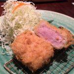あげづきのとんかつが究極:衣の中のピンク色の肉がエロい @ 神楽坂 / 飯田橋 ミシュラン/ビブグルマン