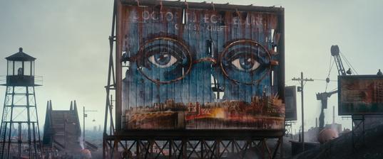 The Great Gatsby/グレート・ギャツビーのエックルバーグ博士の看板