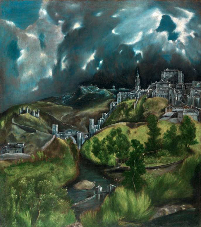 The Great Gatsby/グレート・ギャツビー_エル・グレコのトレド眺望 (メトロポリタン美術館)