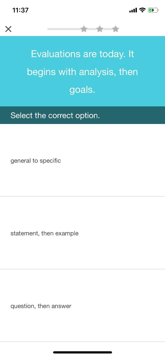 EF English live(EFイングリッシュライブ)のライティング添削、オンライン教材でライティングスキルの練習問題を解く、スマホアプリ版