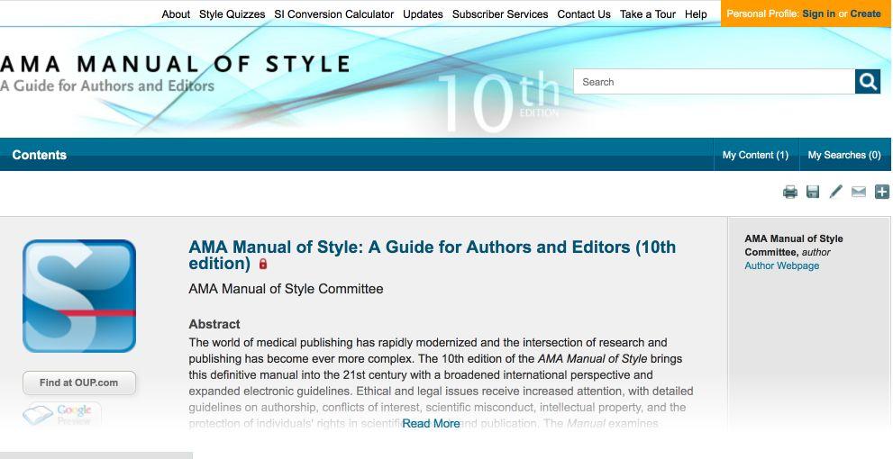 メディカルライティングの本(マニュアル)AMA Manual of Style