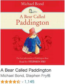おすすめの英語Audible(オーディオブック)初心者向け_A Bear Called Paddington