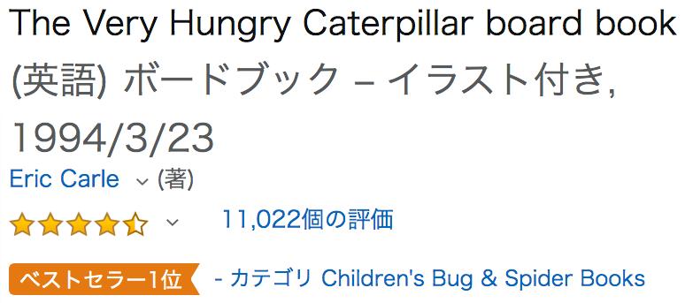 英語の洋書 The Very Hungry Catepillar はらぺこあおむし
