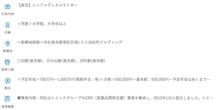 メディカルライターの年収(製薬会社・CRO)2
